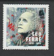 TIMBRE - 2016  -   N° 5080  - Personnalité , Léo Férré  - Neuf Sans Charnière - Unused Stamps