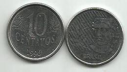 Brazil 10 Centavos 1996. KM#633 - Brazil