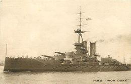 BATEAU DE GUERRE -  LE H.M.S.IRON DUKE - Krieg