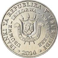 Monnaie, Burundi, 5 Francs, 2014, Oiseaux - Calao Trompette, SPL, Aluminium - Burundi