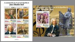 GUINEA REP. 2020 MNH Johann Sebastian Bach Composer Komponist Compositeur M/S+S/S - OFFICIAL ISSUE - DHQ2026 - Music