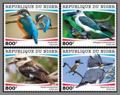 NIGER 2020 MNH Kingfishers Eisvögel Martins-Pecheurs 4v - OFFICIAL ISSUE - DHQ2026 - Other