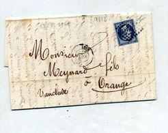 Lettre Cachet Losange Lyon Sur Napoleon + Orange - Marcofilia (sobres)