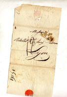 Fragment De Lettre Cachet Bureau Fraçais B . F . Milan 12 Decimes - 1861-78 Victor Emmanuel II