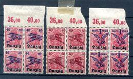 Danzig 50/52 OR OBERRAND-VIERERBLOCKS ** POSTFRISCH (H6740 - Dantzig