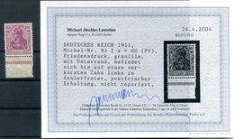 DR-Germania 92Ia Tadellos ** POSTFRISCH BPP Befund 800EUR (H5013 - Nuovi