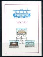 BE   Feuillet   2079 - 2081   ---   Histoire Du Tram Et Du Trolley  --  Obl. 1er Jour - Belgium