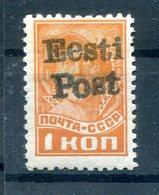 ESTLAND ELWA 1X Tadellos ** POSTFRISCH BPP 150EUR (H5818 - Occupation 1938-45