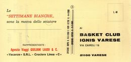 B 3452 -  Basket IGNIS Varese - Altri