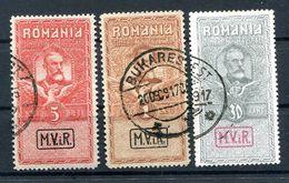 Rumänien KRIEGSMARKEN VIII/X Tadellos Gest. 120EUR (H5458 - Besetzungen 1914-18