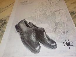 ANCIENNE PUBLICITE CHAUSSURE UNIC SPORT 1928 - Vintage Clothes & Linen