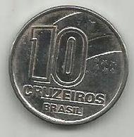 Brazil 10 Cruzeiros 1991. KM#619.2 3.7g - Brazil