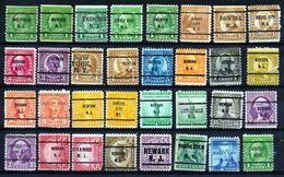 U.S.A. -  32 PRECANCELS  - Selection Nr 365 - Precancels