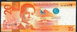 PHILIPPINES NLP (NLPc) 20 PISO 2019 #KP Signature 15 (Dutertre/Espenilla) UNC. - Filipinas
