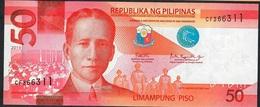PHILIPPINES NLP (NLPc) 50 PISO 2019 #CF Signature 15 (Dutertre/Espenilla) UNC. - Filipinas