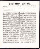 1801 Allgemeine Zeitung. Miscellen Aus England, Grossbritanien, Frankreich, Deutschland Und Russland. - Magazines & Newspapers