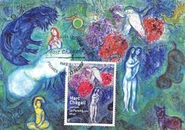 FRANCE.CARTE MAXIMUM. N°207615. 13/01/2017. Cachet Paris. Marc Chagall. Le Paradis - Cartes-Maximum