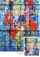 FRANCE.CARTE MAXIMUM. N°207616. 13/01/2017. Cachet Strasbourg. Marc Chagall. La Paix - Cartes-Maximum