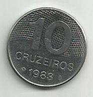 Brazil 10 Cruzeiros 1983. KM#592.1 - Brazil