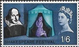GREAT BRITAIN 1964 Shakespeare Festival - 1s.6d. Eve Of Agincourt (Henry V) MH Phosphor Issue - Gebraucht