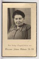 Doodsprentje VROUW FEMME Juliana Melania DE NIL °1890 OUDEGEM +1956 OUDEGEM  // DE KERPEL - Andachtsbilder