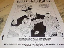 ANCIENNE PUBLICITE MAGASIN  BELLE JARDINIERE RUE PONT NEUF 1928 - Vintage Clothes & Linen