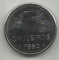 Brazil 5 Cruzeiros 1980. KM#591 - Brazil