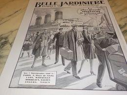 ANCIENNE PUBLICITE CROISIERE MAGASIN  BELLE JARDINIERE  1928 - Vintage Clothes & Linen