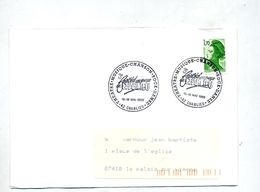 Lettre Cachet Charlieu Festival Theatre Musique  Rock - Postmark Collection (Covers)