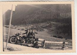 MOTO MOTORCYCLE GUZZI - FOTO ORIGINALE BRUSSON VALLE D'AOSTA 1938 - Foto's
