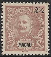 Macau Macao – 1898 King Carlos 2½ Avos - Macao