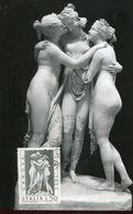 55441 Italia,maximum 1972 Sculpture Of Antonio Canova, Les Trois Grâces,the Three Graces,die Drei Grazien - Sculpture