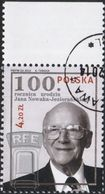 POLAND 2014, Mi 4715, 100TH Birthday Of Jan Nowak Jezioranski RFE FREE EUROPE RADIO, Used - 1944-.... Republic
