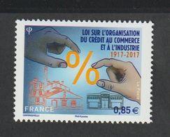 TIMBRE - 2017  -   N° 5132 - Centenaire Sur La Loi Du Crédit Au Commerce -  Sans Charnière - Frankreich