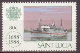 Saint Lucia 1988 Mi#935 MNH Cv Eur1.8 Ships - St.Lucia (1979-...)