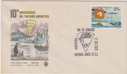 Argentina 1972 10th Ann. Antarctic Treaty 1v FDC (48251) - Tratado Antártico