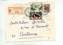 Lettre  Recommandée Lingreville Sur Coq Carnac Ronchamp - Marcophilie (Lettres)