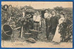 RARE CPA 33 SAINT MICHEL DE FRONSAC - L. BESSOUDOUX Propriétaire - Les Vendanges Au Château De Combes-Canon - Autres Communes