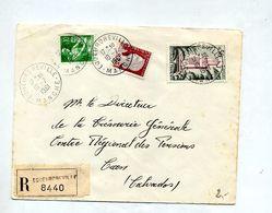 Lettre  Recommandée Equeurdreville Sur Decaris Moisson Tlemcen - Marcophilie (Lettres)