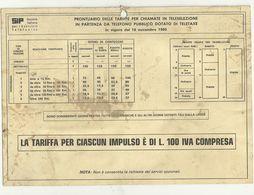 SIP--  PRONTUARIO  X LE  CHIAMATE IN  TELESELEZIONE  1980  RARO - Schede Telefoniche