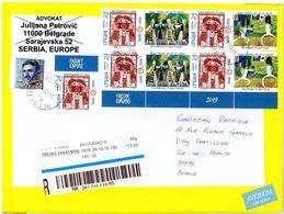 Serbie 2019 Escrime Danse  On Registered Letter - Escrime
