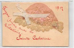 SAINTE-CATHERINE-BONNET EN TISSU, RUBAN, DENTELLE,fuyons, Fuyons , Toutes Les Tentation - St. Catherine