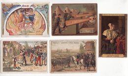 Chromo  BISCUITS LEFEVRE UTILE    Lot De 5    Sigurd, Soldats, Musée Du Louvre Etc     10.7 X 7.5 Cm - Lu