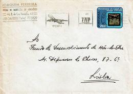 Commercial Cover JOAQUIM FERREIRA , Auto Repair .   LISBOA , 1972 , TAP Slogan Postmark , Pinhel City  Stamp - Postmark Collection
