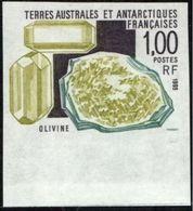 Terres Australes 1995 Minerals Minéraux Olivine Imperf MNH - Minéraux