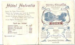 GENES . HOTEL HELVETIA - Advertising