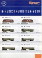 Catalogue ROCO 2006 N - Herbstneuheiten N-06 1/160 - Libros Y Revistas