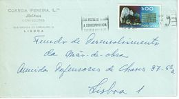 Commercial Cover CORREIA PEREIRA , Melanie Fashion .   LISBOA , 1972 , ZONA POSTAL Slogan Postmark , Wolframite   Stamp - Postmark Collection