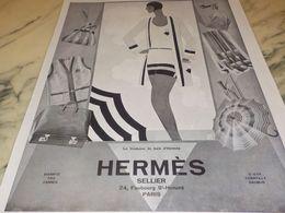 ANCIENNE PUBLICITE COSTUME DE BAIN  HERMES 1928 - Vintage Clothes & Linen