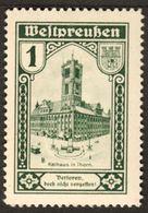 """Westpreussen Korridor 1920 """" Rathaus Thorn Torun - Verloren Doch Nicht Vergessen """" Vignette Cinderella Reklamemarke - Erinofilia"""